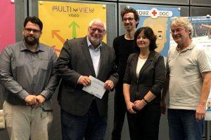 Aktion vor Ort: MdL Karl Schultheis (SPD) beim Audiovisuellen Medienzentrum der RWTH Aachen