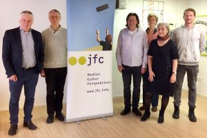 Aktion vor Ort: Andreas Kossiski im jfc Medienzentrum