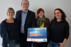 Aktion vor Ort: MdL Jochen Ott (SPD) informierte sich in der Redaktion von LizzyNet über Mitmach- und Informationsangebote